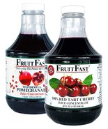 "1 Quart Tart Cherry & 1 Quart Pomegranate ""Cold Filled"" Juice Concentrat... - $43.95"