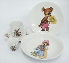 Seltmann Weiden Porcelain Childrens Place Setting Plate Bowl Cup Saucer ... - $29.69