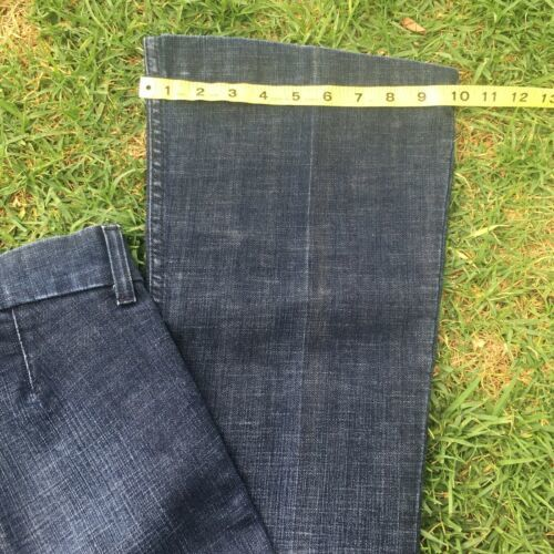 Juicy Couture womens Jeans Size 27 Boot Cut Flare Leg Distressed Dark Washed image 6