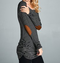 Black Striped Shirt, Striped Long Sleeve Top, Black Pinstripe Top, Womens
