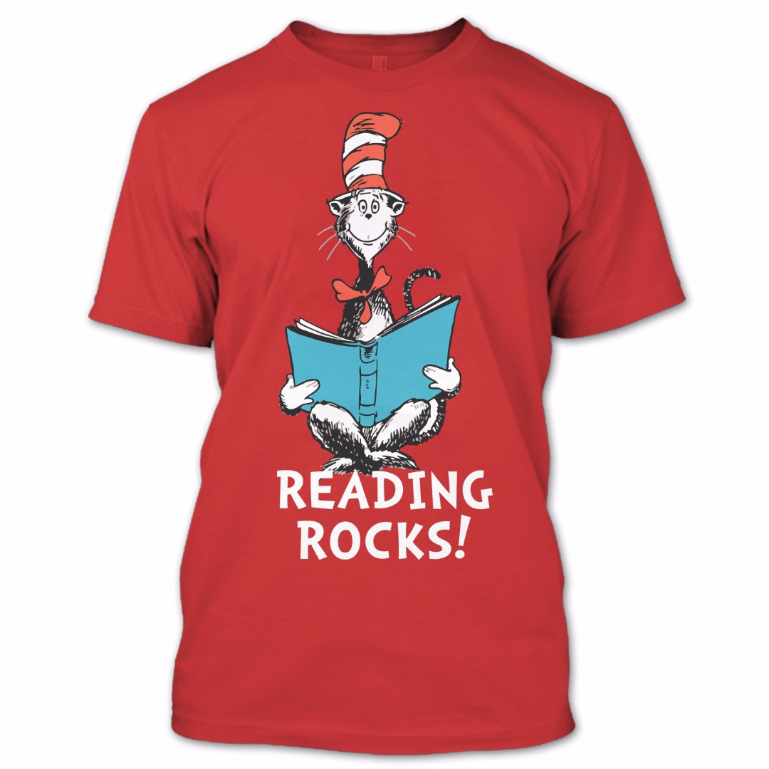 Dr. Seuss T Shirt, The Cat in the Hat T Shirt, Reading Rocks Shirt