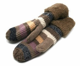 J Fashion Accessories Women's Knitted Winter Mittens, Taupe (One Size) - €15,16 EUR
