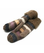 J Fashion Accessories Women's Knitted Winter Mittens, Taupe (One Size) - £13.95 GBP