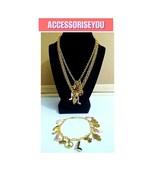 Charm necklace and bracelet - $15.00