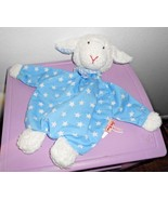 Kathe Kruse Lamb Flat Plush Stuffed Animal Towel Terrycloth Blue White S... - $39.58