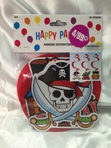 NEW Pirate Party 3 Hanging Decorations  Skull  ... - $6.98