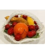 "Handmade Ceramic Lattice Fruit Bowl Basket Made In Italy Scalloped 8 1/2 ""D - $24.74"