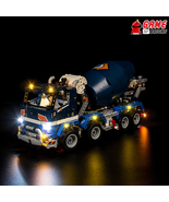LED Light Kit for Concrete Mixer Truck - Compatible with Lego 42112 Set - $24.99+