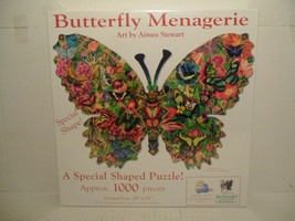 Butterfly Menagerie Art by Aimee Stewart Approx.1000 Pc Puzzle. New Sealed - $58.30