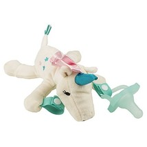 Browns Lovey Pacifier and Teether Holder Dr Deer with Pink Pacifier 0 Months Plus