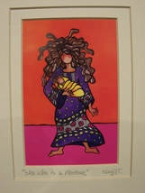 """Suzy Toronto """"She Who is a Mother""""  Matted Print, New in Factory Sealed Wrap.  - $6.99"""