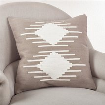 Fennco Styles 20-inch Kilim Design Down Filled Throw Pillow, Natural (Ve... - $53.45