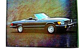 1980 mercedes 450sl owners sales brochure w107 w123 w116 new original 300cd 300 - $16.33
