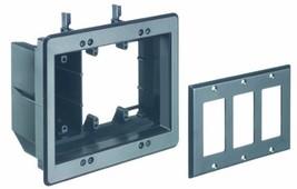 Arlington TVBU507BL-1 TV Box Recessed Outlet Wall Plate Kit, 3-Gang, Bla... - $18.70