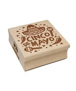 Cinco De Mayo with Sombrero Maracas Square Rubber Stamp for Stamping Cra... - £7.09 GBP