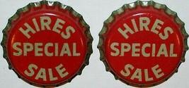Soda pop bottle caps HIRES root beer SPECIAL SALE Lot of 2 cork new old ... - $5.99
