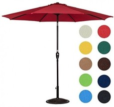 Sundale Outdoor 10 Feet Aluminum Market Umbrella Table Umbrella with Cra... - $115.09 CAD