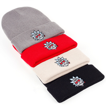 Rick and Morty Beanie Smoking Elastic Embroidery Winter Knitted Hat Skul... - $17.00