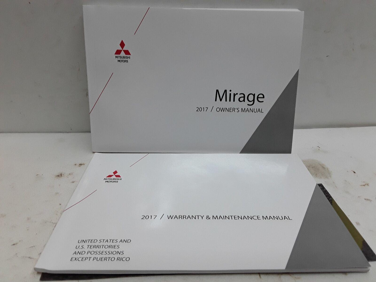 2017 Mitsubishi Mirage owners manual OEM