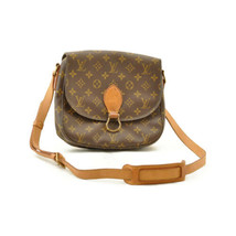 LOUIS VUITTON Monogram Saint Cloud GM Shoulder Bag M51242 LV Auth sa1998... - $420.00