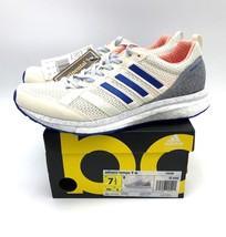 Adidas adizero Tempo 9 Running Shoe - Womens Size 7.5 CP9498 White Orang... - $74.24