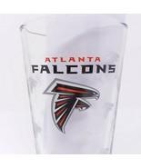 Atlanta Falcons NFL Miller Lite Beer Pint Glass Etched Pilsner - $11.26
