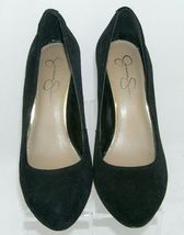 Jessica Simpson 'Amari' black suede amond toe slip on womens wedges 8.5B image 5