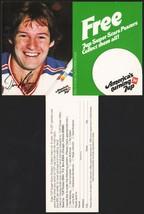 Vintage carton stuffer 7 UP dated 1979 Don Maloney #1 New York Rangers n... - $8.99
