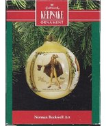 Keepsake Ornaments Norman Rockwell Art 1990 Glass Hallmark - $7.87