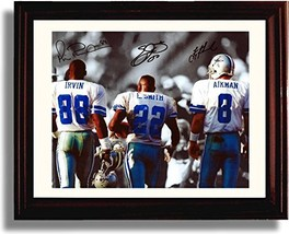 Framed Big 3 Autograph Replica Print - Michael Irvin, Emmit Smith, and T... - $46.62