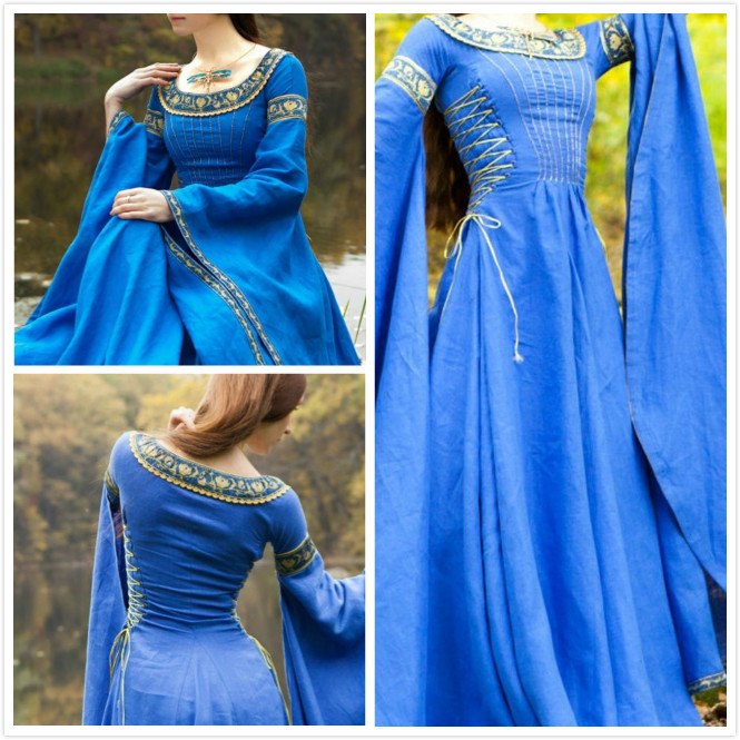 Primary image for medieval Dress Lady of the Lake Costume