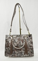 NWT Brahmin Small Camille Leather Satchel/Shoulder Bag in Brown Charente image 2