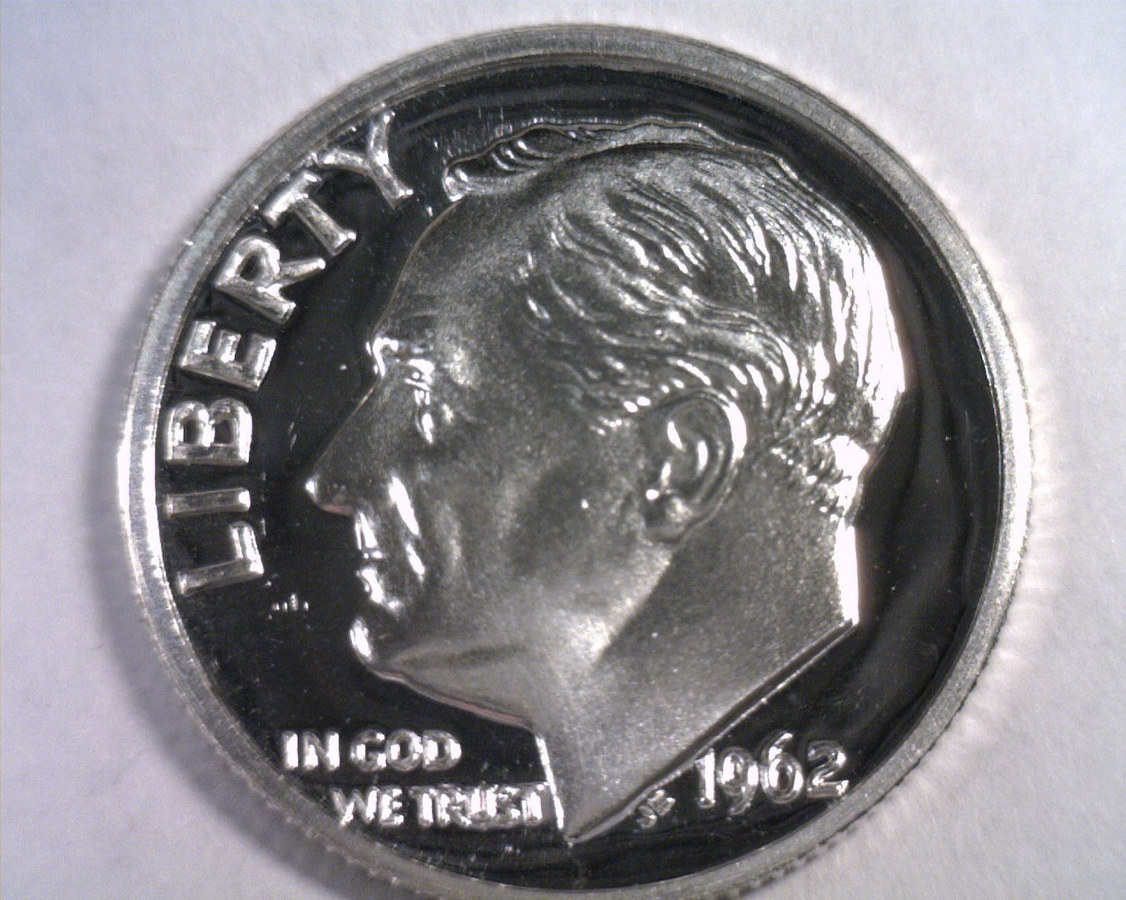 1962 ROOSEVELT DIME GEM / SUPERB PROOF CAMEO GEM / SUPERB PR CAM. NICE ORIGINAL - $14.00