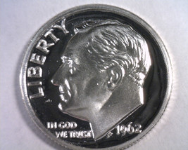 1962 ROOSEVELT DIME GEM / SUPERB PROOF CAMEO GEM / SUPERB PR CAM. NICE O... - $14.00