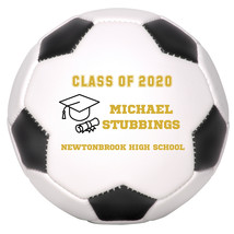 Personalized Custom Class of 2020 Graduation Regulation Soccer Ball Gold... - $59.95