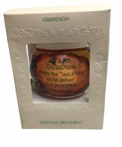 Vintage Hallmark Unbreakable Satin Ornament 1981 Grandson Keepsake Ornament - £13.60 GBP