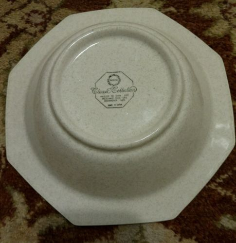 """NIKKO MARINER BLUE Classic Collection stone Serving Bowl 9"""""""