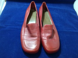 Anne Klein Women's Red Leather Loafers Sz 10M