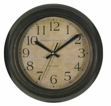 "Baldauf Clock Company Bronze Brushed Oil Rub 12"" Round Wall Clock, Moder... - $29.68"