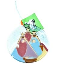 Three Kings Religious Fused Art Glass Ornament Handmade in Ecuador image 2