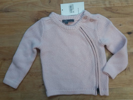 Infant Girl's Vince Side Zip Sweater, Size 18M - Pink - $29.69