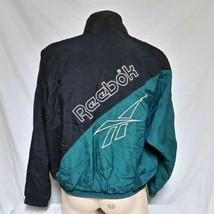 VTG Reebok Windbreaker Jacket 90s Sport Spell Out Coat Shaq Track Iverso... - $59.99