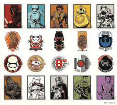 """Star Wars Stickers Decal Sheet Sticker Adhesive Mattel Scary 5.75"""" x 5"""" NEW - $3.06"""