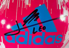 """LIONEL """"LEO"""" MESSI / AUTOGRAPHED ADIDAS GLIDER BRAND FULL SIZE SOCCER BALL / COA image 2"""