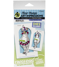 Llama Twister Stamp & Die Set. Art Impressions. Card Making. CLEARANCE