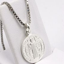 Venetian Chain 50 CM, MEDAL ST. BENEDICT, CROSS, SILVER 925 necklace image 12