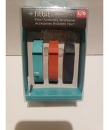 Fitbit Flex 3 Pk Vibrant Accessory Wristbands Bands Teal /Orange /Blue L... - $8.82