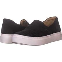 naturalizer Carly Platform Slip-On Sneakers 259, Black Tumb Leathe, 6 US... - $25.91