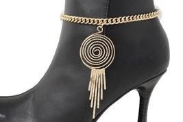 Sexy Women Gold Metal Western Boot Chain Bracelet Swirl Urban Shoe Charm Bling - $16.65