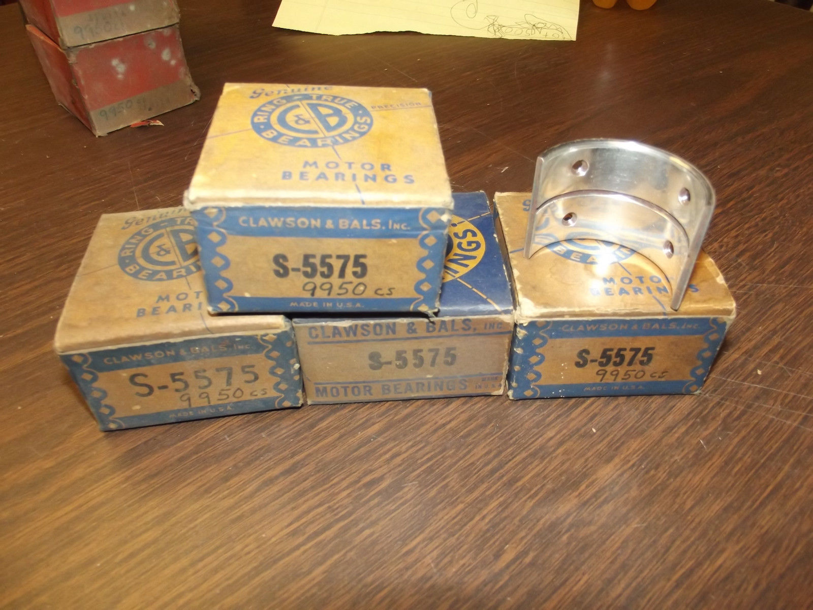 Primary image for 1940 Ford V8 60 Rod Bearing Set Flathead Clawson 9950 5575 Hot Rod Midget